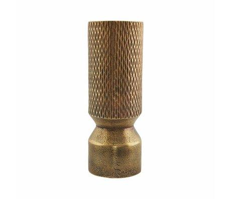Housedoctor Messingguss Vase Gold Aluminium ø7x18cm