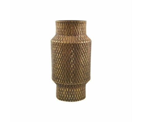 Housedoctor Messingguss Vase Gold Aluminium ø8x16cm