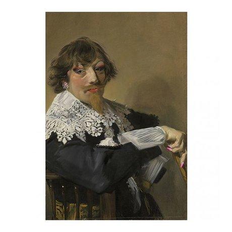 Arty Shock Malerei Frans Hals - Porträt eines Mannes L Mehrfarben Plexiglas 100x150cm