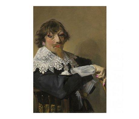 Arty Shock Painting Frans Hals - Portrait of a man XL multicolor plexiglass 150x225cm