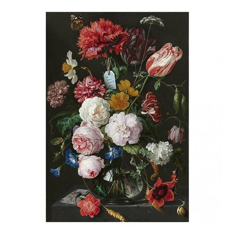 Arty Shock Gemälde Jan Davidsz de Heem - Stilleben mit Blumen in einer Glasvase M Multicolor Plexiglas 80x120cm