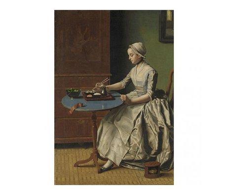 Arty Shock Painting Jean-Etienne Liotard - Dutch girl having breakfast XL multicolor plexiglass 150x225cm