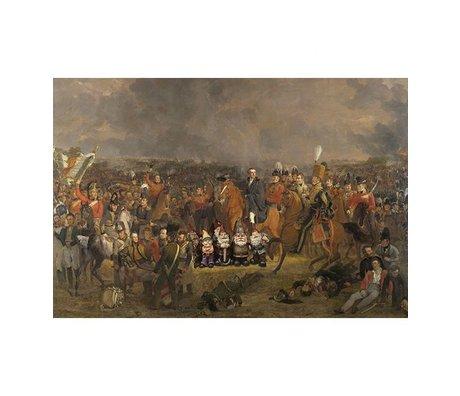 Arty Shock Peinture Pieneman - La bataille de Waterloo L multicolore Plexiglas 100x150cm
