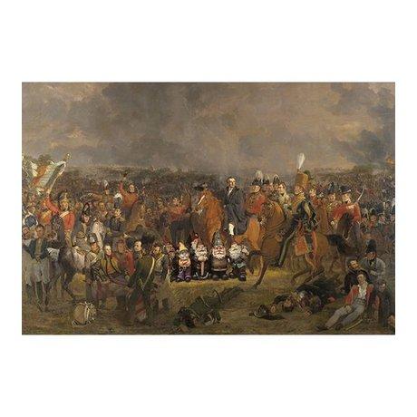 Arty Shock Malerei Pieneman - Die Schlacht von Waterloo XL mehrfarbige Plexiglas 150x225cm