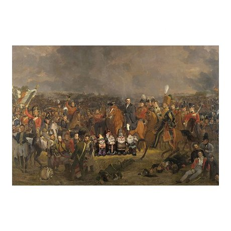 Arty Shock Painting Pieneman - The Battle of Waterloo XL multicolor plexiglass 150x225cm