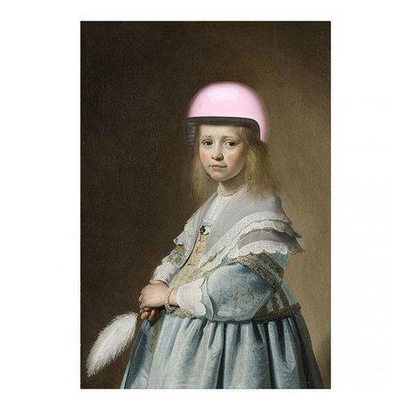 Arty Shock Verspronck Malerei - Porträt eines Mädchens in blau M Multicolor Plexiglas 80x120cm
