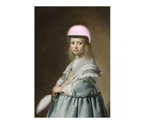 Arty Shock Verspronck painting - Portrait of a girl in blue XL multicolor plexiglass 150x225cm