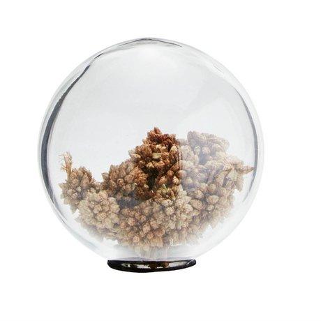 Madam Stoltz Glazen bal met bloemzaden transparant glas Ø10cm