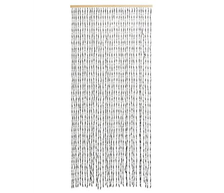 Madam Stoltz Vorhang schwarzes Papier 90x200cm 36 Saiten