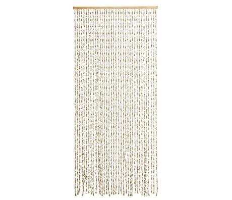 Madam Stoltz Vorhang natürliche Braunalge 90x200cm 36 Saiten