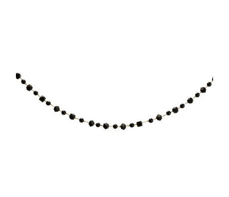 Madam Stoltz boules Garland bois noir 120cm
