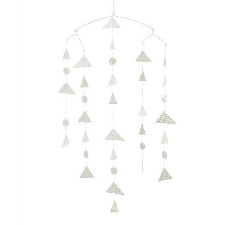 Madam Stoltz Mobile Dreieck Whitepaper 27x20x100cm