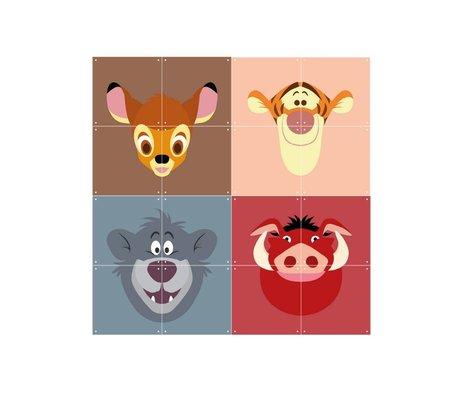 IXXI Wand-Dekor Disney Alle Stars buntes Papier 16 Karten 20x20cm