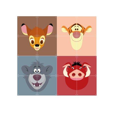 IXXI Wall Decoration Disney All Stars Multicolour Paper 16 Cards 20x20cm