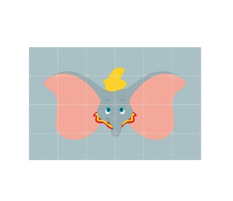 IXXI Wand-Dekor Disney All Stars Dumbo grau mehrfarbig Papier 120x80cm