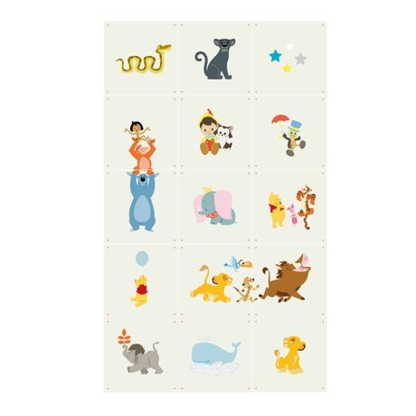 IXXI Wall Decor Disney Baby collage multicolored paper 15 cards 20x20cm
