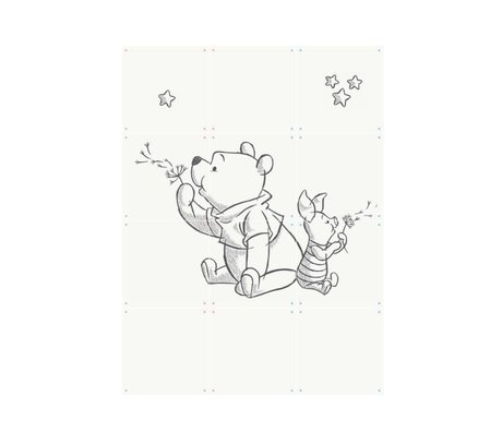 IXXI Wanddekorationen Pooh weißes Papier 60x80cm Wishing