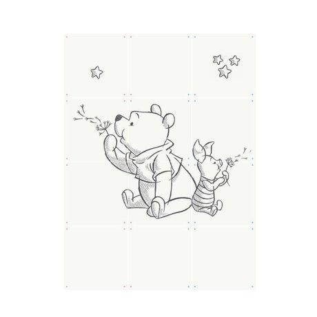 IXXI Wall decoration Wishing Pooh white black paper 60x80cm