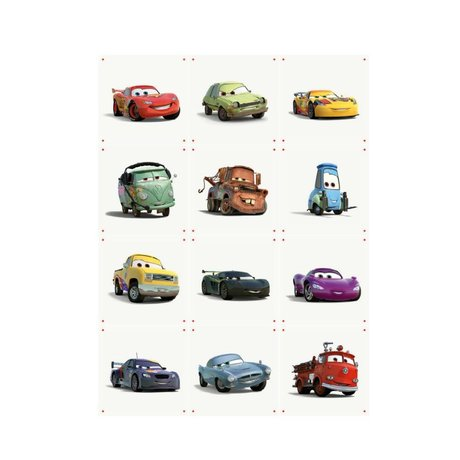 IXXI Wanddekoration Autos Collage buntes Papier S12 Karten 20x20cm