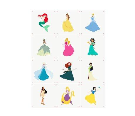 IXXI Wall Decoration Disney Princesses Collage Multicolour Paper 12 Cards 20x20cm
