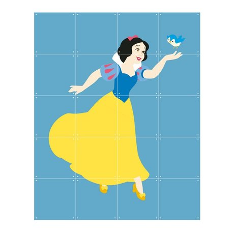IXXI Wanddeko Disney Princess Schneewittchen blau gelbes Papier 80x100cm