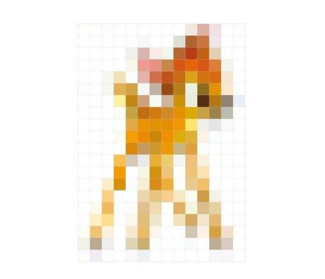 IXXI Wanddekoration Bambi Pixel Mehrfarbenpapier 140x200cm