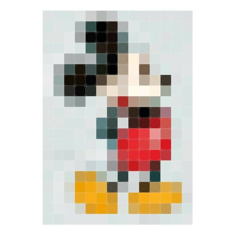 IXXI Wanddekoration Mickey Mouse Pixel Mehrfarbenpapier 140x200cm
