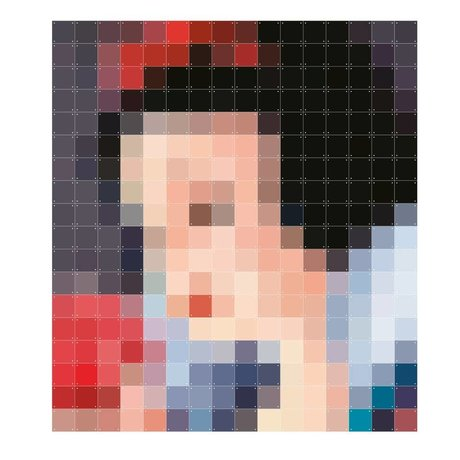 IXXI Walldecoration now White Pixel multicolour paper 160x180cm