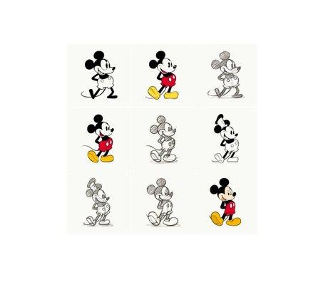 IXXI Wanddekoration Mickey Mouse-Animation Mehrfarbenpapier 9 Karten 20x20cm