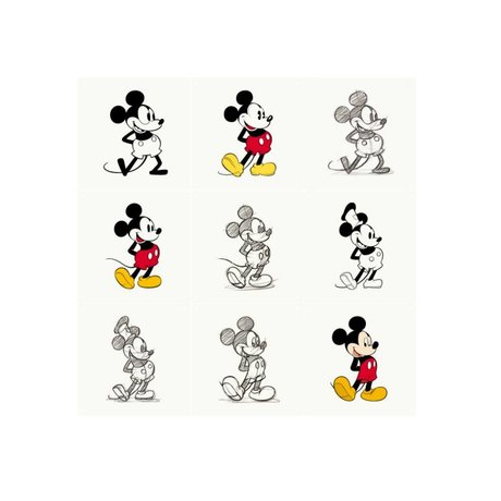 IXXI Wall decoration Mickey Mouse Animation multicolour paper 9 cards 20x20cm