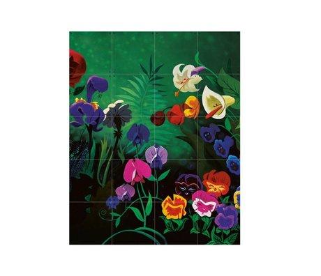 IXXI Wanddekoration Alice Blumen Mehrfarbenpapier S 80x100cm