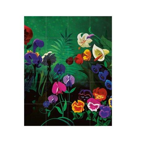 IXXI Wanddecoratie Alice Flowers multicolour papier S 80x100cm