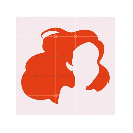 IXXI Wall decoration Disney minimalism Ariel orange light pink paper S 100x100cm