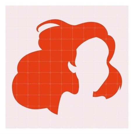 IXXI Wall decoration Disney minimalism Ariel orange light pink paper L 220x220cm
