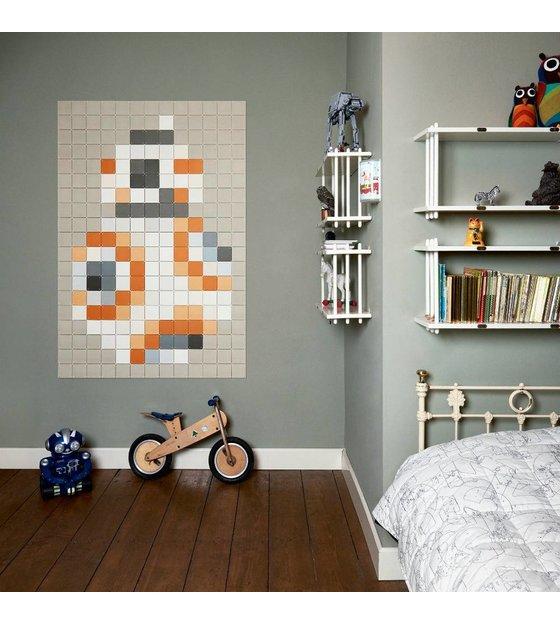 IXXI Wanddekoration Star Wars BB 8 Pixel Licht Orange Papier 130x190cm    Wonen Met LEF!