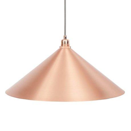 Frama Cone Hängelampe Kupfermetall mit E27 L Ø52cm