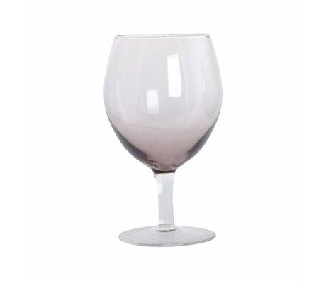 Housedoctor Weinglas Kugel lila Glas H: 17 cm