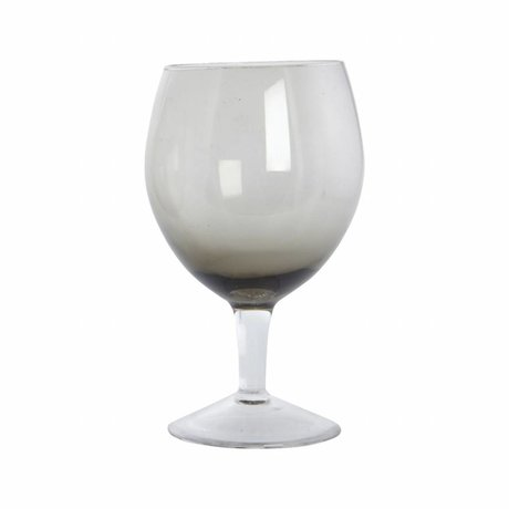 Housedoctor Wineglass Ball gray glass h: 17 cm