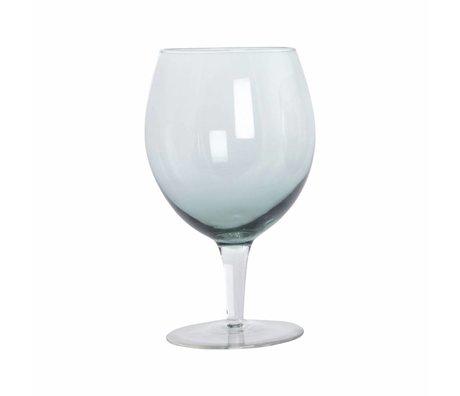 Housedoctor Weinglas-Kugel-grünes Glas h: 17 cm