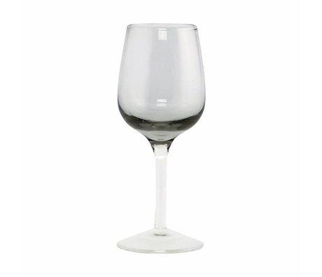 Housedoctor Likörglas-Kugel-graues Glas, h: 13 cm