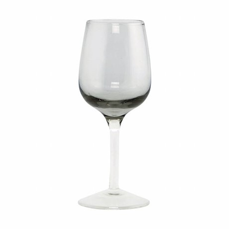 Housedoctor Liqueur glass Ball gray glass, h: 13cm