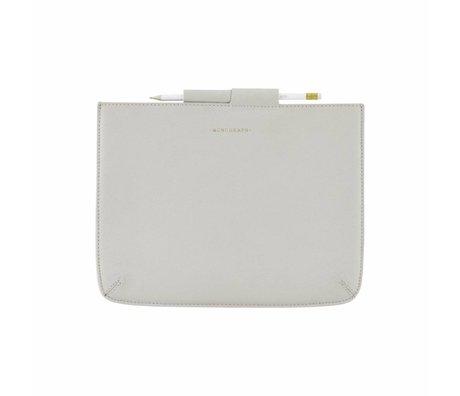 Housedoctor Cover Ipad grijs leer/katoen 29x22cm