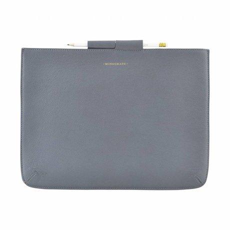 Housedoctor Cover Case Pro blau Leder / Baumwolle 35,5x26,5cm