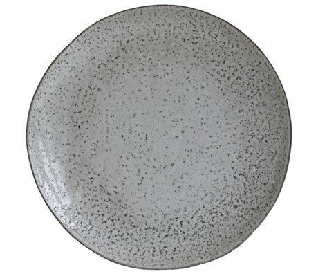 Housedoctor Diner bord Rustic grijs blauw keramiek ø27,5x2,8cm
