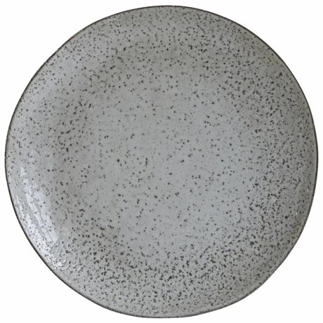 Housedoctor Dinner plate Rustic gray blue ceramic ø27,5x2,8cm