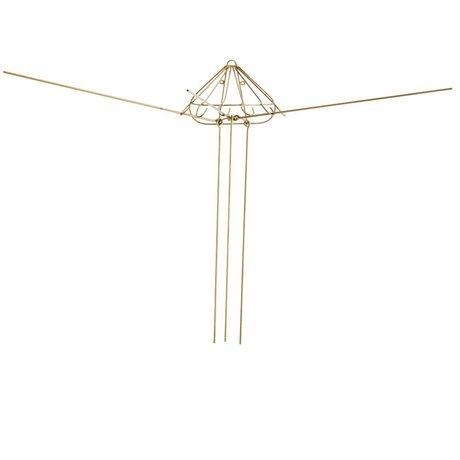 Madam Stoltz Wasrek goud metaal 6 hook 30x15x80cm