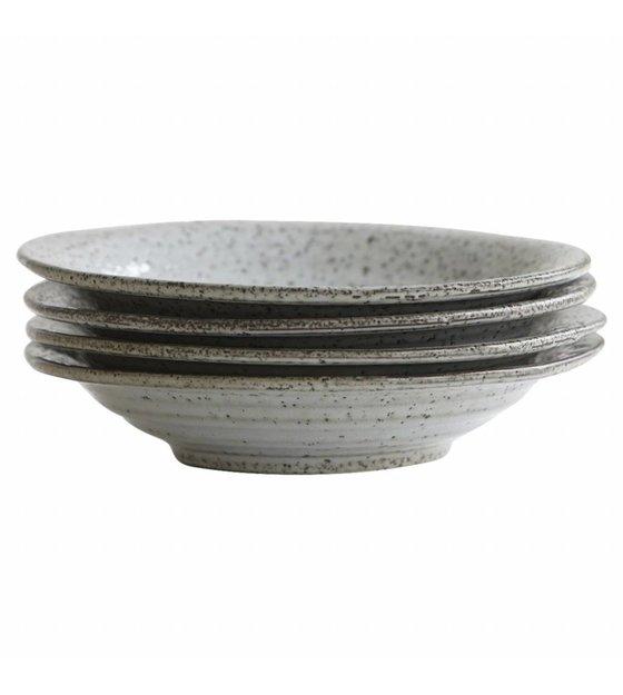 Aus Was Besteht Keramik housedoctor tiefer teller rustic grau blau keramik ø25x5cm wonen
