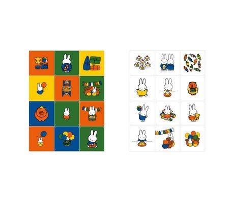 IXXI Wanddecoratie Nijntje Celebration multicolour papier 12 kaarten 20x20cm