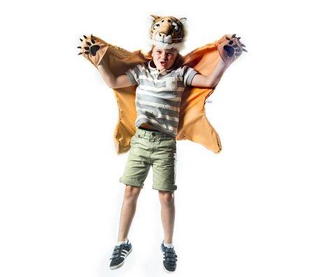 Wild and Soft Disguise Tiger 98x119x18cm orange textile blanc brun
