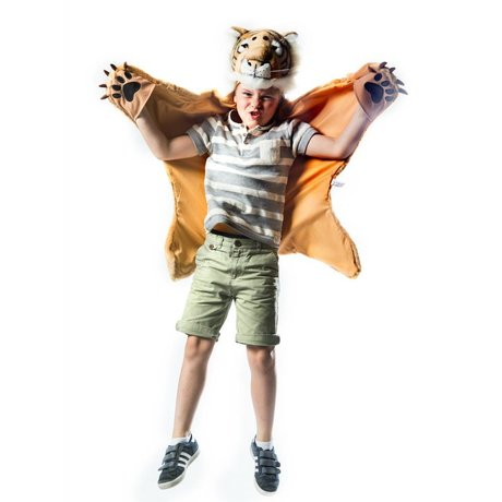 Wild and Soft Disguise Tiger orange brown white textile 98x119x18cm